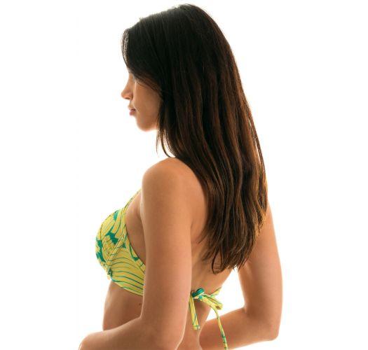 Balconette bikini top in green banana print - TOP BANANA YELLOW BALCONET
