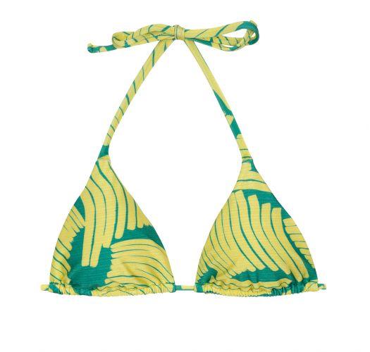 Green/yellow triangle top - TOP BANANA YELLOW INVISIBLE