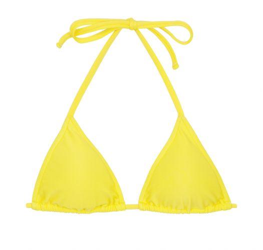 Lemon yellow triangle top - TOP BEACH STREGA ROLOTE