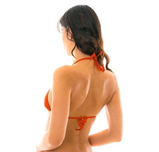 Red triangle bikini top - TOP BEIJO LACINHO