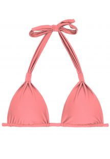 Peach rose halter bikini top - TOP BELLA CORTINAO
