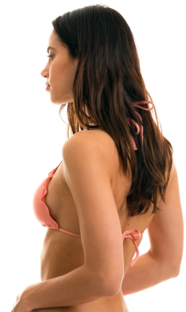 Wavy pink triangle bikini top - TOP BELLA FRUFRU