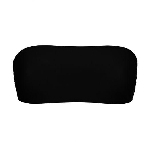 Black bandeau bikini top - TOP BLACK RETO