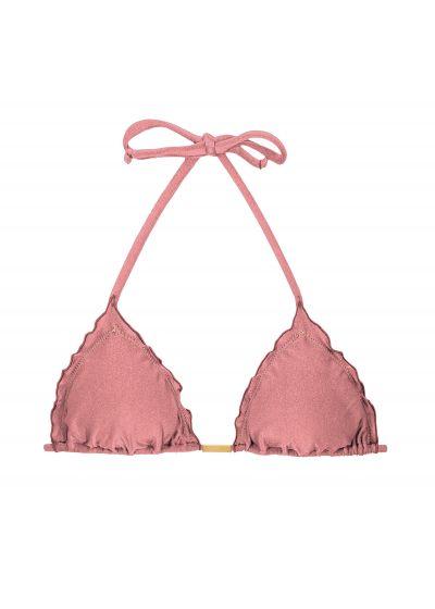 Iridescent pink wavy triangle top - TOP CALLAS FRUFRU