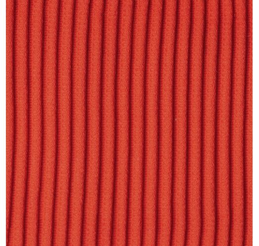 Ribbed red laced back bralette bikini top - TOP COTELE-TOMATE TRI-TANK