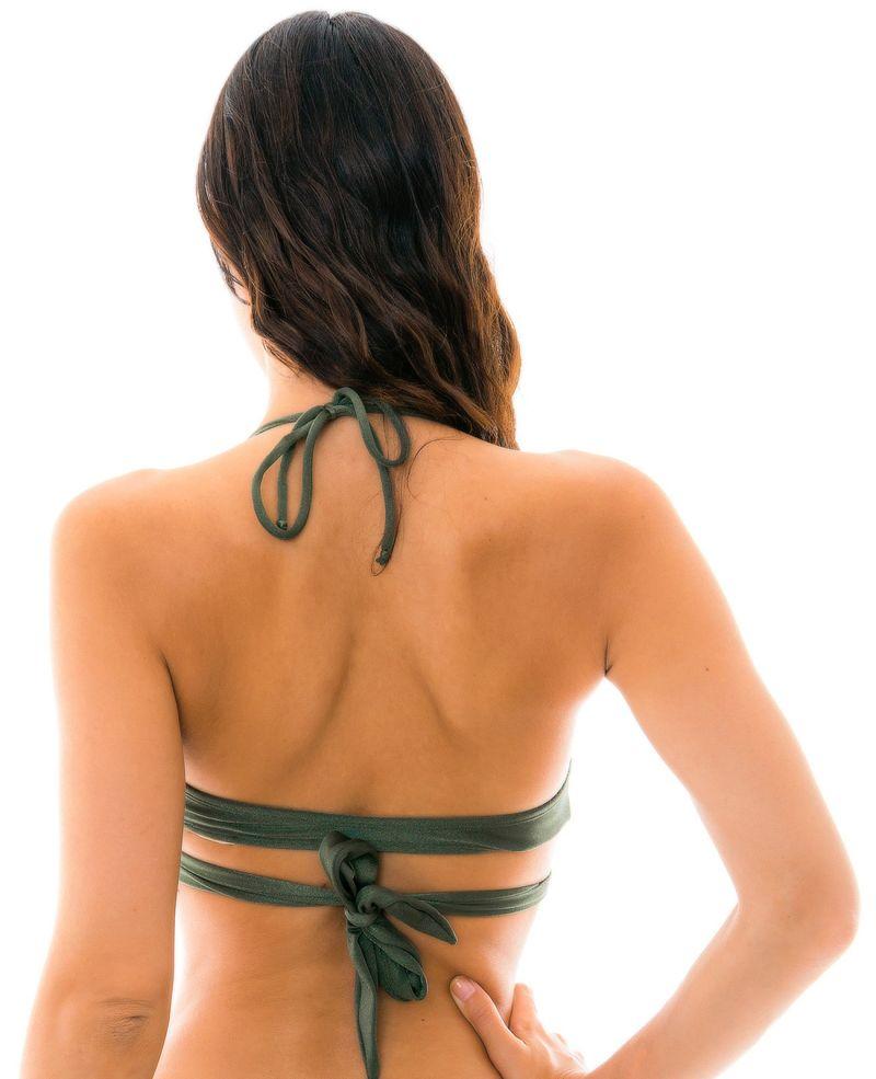 Khaki wrap bra bikini top - TOP CROCO TRANSPASSADO