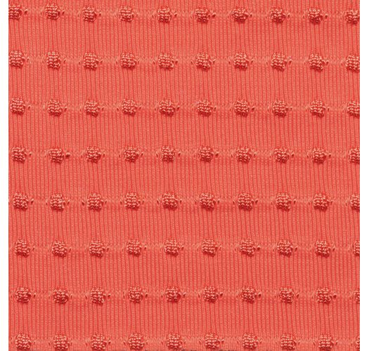 Parte superior de bikini con lazo frontal en rosa coral con relieve - TOP DOTS-TABATA MILA