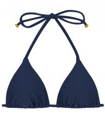 Textured triangle navy bikini top - TOP DUNA TRI MARINHO