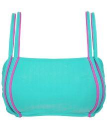 Blå bikini-BH med rosa detaljer - TOP DUO PINK BLUE