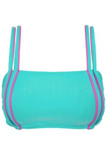 Blue bra bikini top with pink details - TOP DUO PINK BLUE