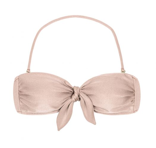 Nude pink bandeau top with removable stripes - TOP ESSENCE BANDEAU