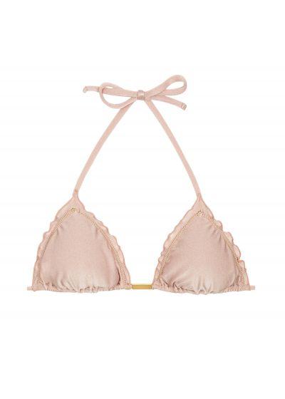 Accessorized nude pink bikini top - TOP ESSENCE FRUFRU