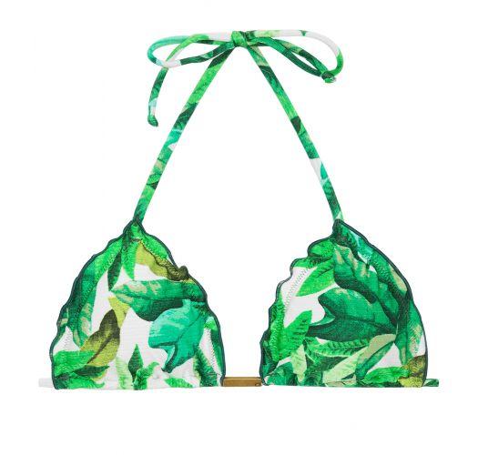 Trekant bikini-top med bladmønster - TOP FOLHAGEM FRUFRU