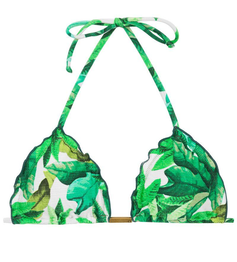 Bikinitop in Triangelform mit Blätterprint- TOP FOLHAGEM FRUFRU