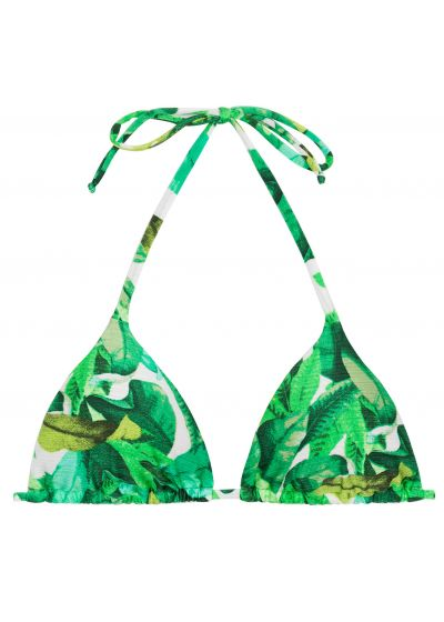 Green triangle bikini top - TOP FOLHAGEM HOT PANT