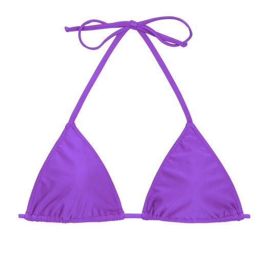 Purple sliding triangle top - TOP FUCHSIA LACINHO