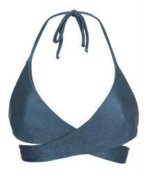 Blue wrap bra bikini top - TOP GALAXIA TRANSPASSADO