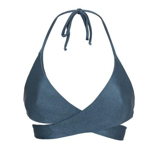 Бюстгальтер серовато-синего цвета спортивного стиля с перекрестом - TOP GALAXIA TRANSPASSADO
