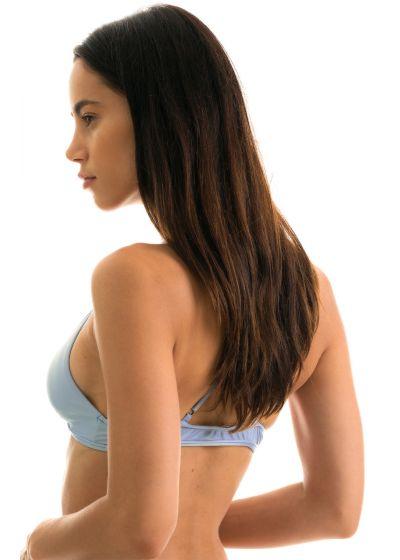 Denim blue triangle top with back crossed straps - TOP GAROA TRI ARG