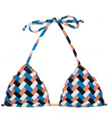 Geometric print triangle bikini top - TOP GEOMETRIC FRUFRU