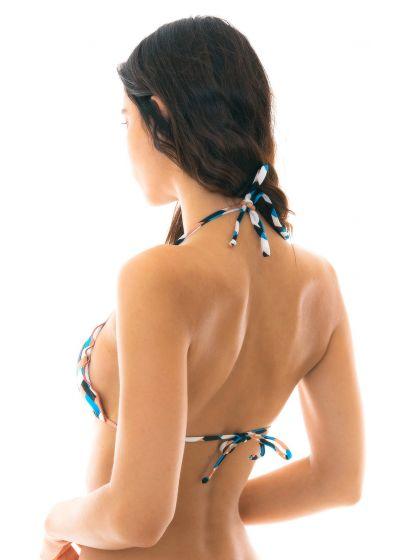 Geometric print triangle bikini top - TOP GEOMETRIC FRUFRU