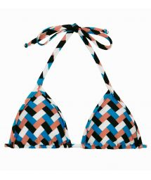 Colorful geometric triangle top - TOP GEOMETRIC MICRO