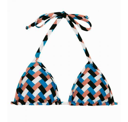 Colorful geometric triangle top - TOP GEOMETRIC MICRO