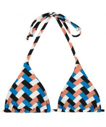 Geometric print triangle bikini top - TOP GEOMETRIC TRI INVISIBLE