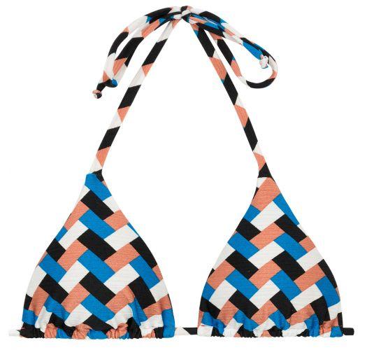 Utringet trekanttopp geometrisk mønster farget - TOP GEOMETRIC TRI INVISIBLE
