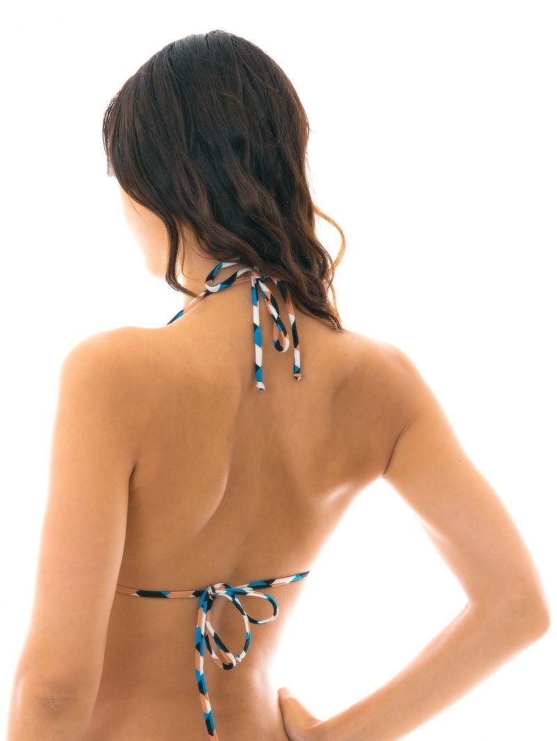 Geometric print triangle bikini top - TOP GEOMETRIC TRI INVISIBLE