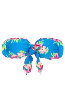 Side-tie floral bandeau bikini top - TOP HOOKERI BANDEAU