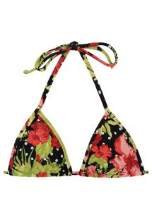 Triangle sliding top in floral and polka dot print - TOP ILHA BELA MICRO