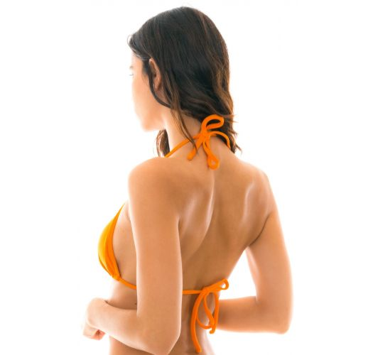 Orange neck-tied triangle bikini top - TOP ITAPARICA TRI