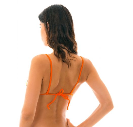 Orange triangle bikini top - TOP KING ARG FIXO