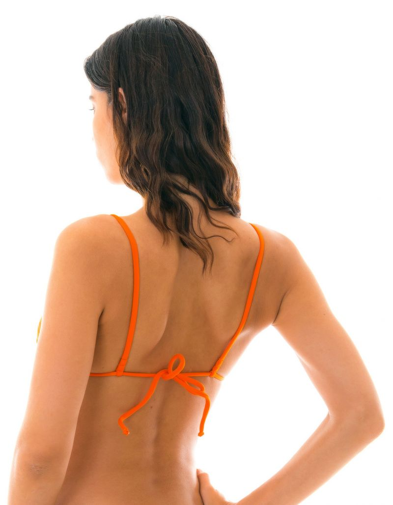 Tangerine-orangetrekants-BH med raka axelband - TOP KING ARG FIXO