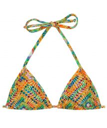 Triangle sliding top in colorful geometric print - TOP LAMPEDUSA MICRO