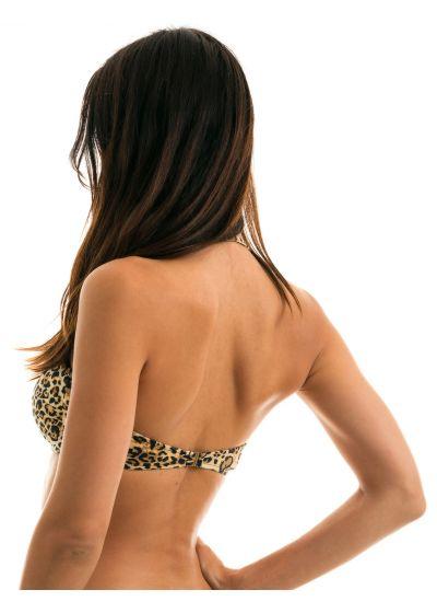 Leopard print bandeau top - TOP LEOPARDO BANDEAU
