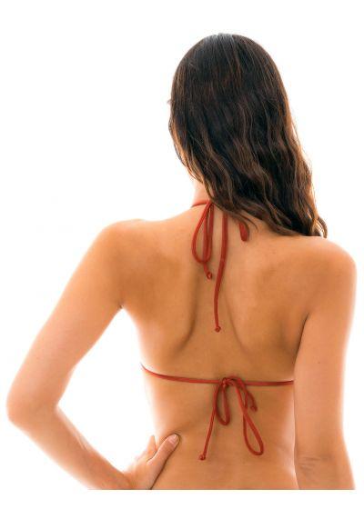 Burgundy triangle bikini top with stripes - TOP LIQUOR DETAIL