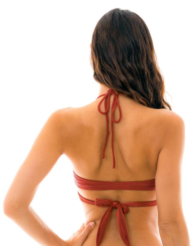 Burgundy wrap bra bikini top - TOP LIQUOR TRANSPASSADO