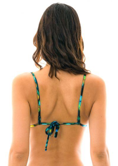 Svart och blå bikini-bh med raka axelband - TOP LUCE TRIANGULO