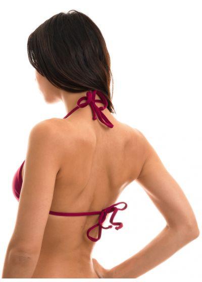 Plum sliding triangle bikini top - TOP MARSALA TRI MICRO