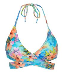 Colorful wrap bikini top - TOP MAXI FLOWER TRANSPASSADO