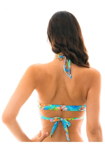 Colorful wrap bikini top - TOP MAXI FLOWER TRANSPASSADO