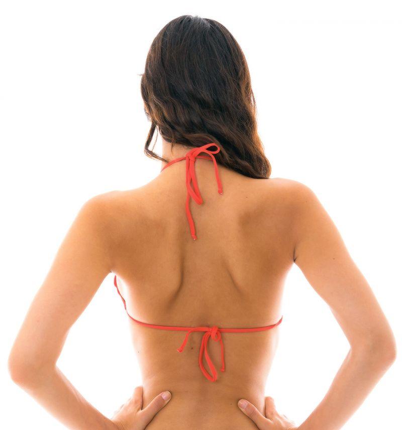 Red triangle bikini top wavy edges - TOP MELANCIA EVA