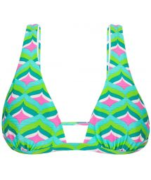 Graphic print green triangle bikini top - TOP MERMAID CORTINAO