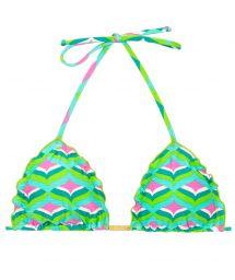 Graphic print triangle bikini top - TOP MERMAID FRUFRU