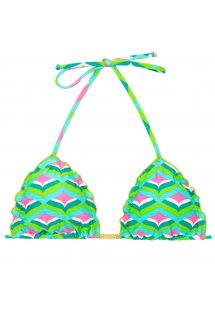 Graphic print triangle bikini top - TOP MERMAID FRUFRU