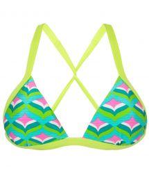 Triangle bikini top with green borders - TOP MERMAID TRI