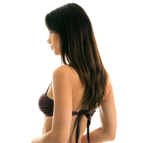 Iridescent brown bandeau top with removable stripes - TOP METEORITE BANDEAU