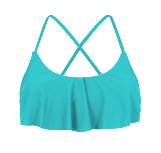 Sky blue ruffled crop top - TOP NANNAI BABADO